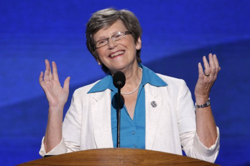 Sister Simone Campbell being an awesome badass lady at the at the DNC. Lady Pope 2013!