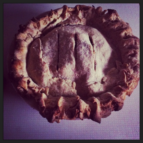 Ugh, the lighting in the kitchen is the worst. But even still you can tell that this pie is badass .